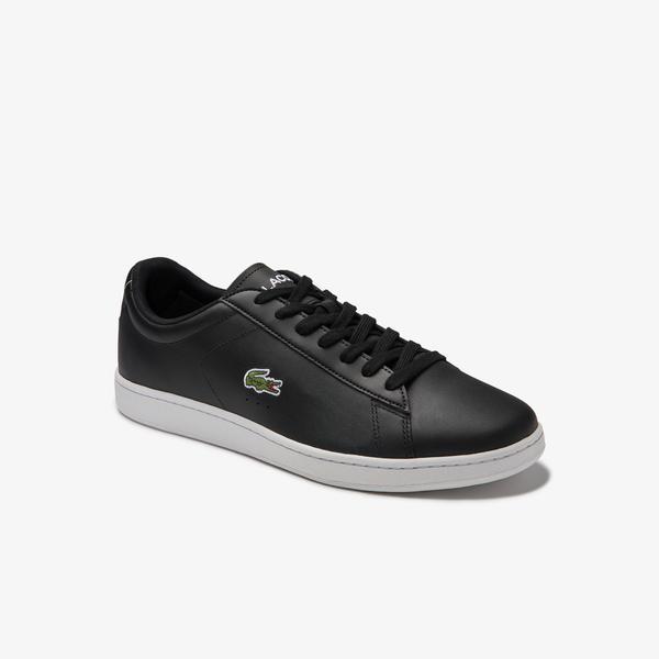 Lacoste Carnaby Evo 0120 4 Sma Erkek Deri Siyah - Beyaz Sneaker