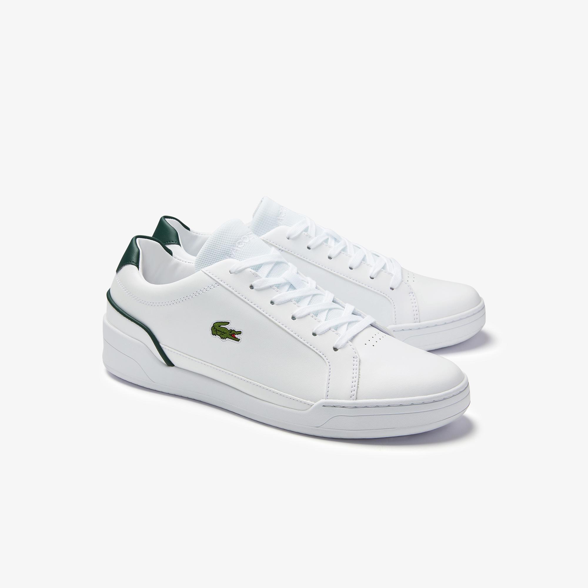 Lacoste Challenge 0120 2 Sma Erkek Deri Beyaz - Koyu Yeşil Sneaker