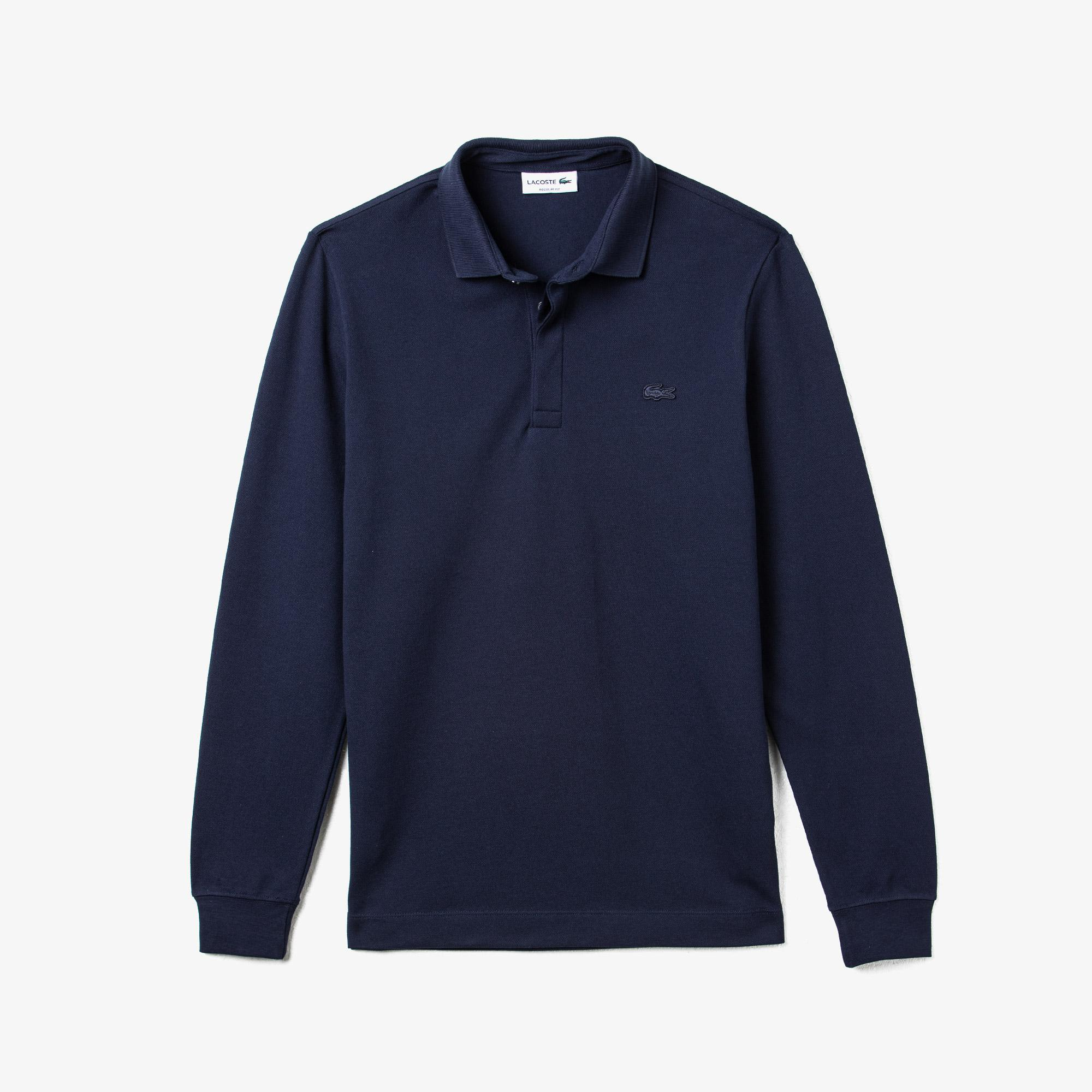 Lacoste Erkek Regular Fit Uzun Kollu Lacivert Paris Polo