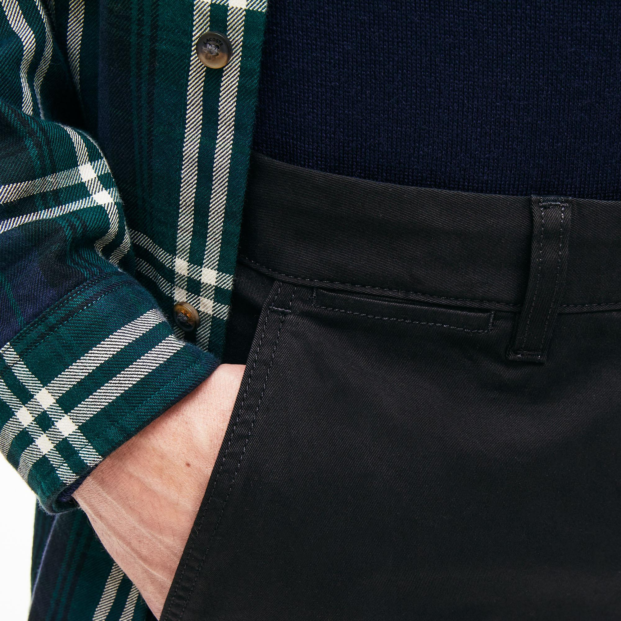 Lacoste Erkek Regular Fit Siyah Pantolon