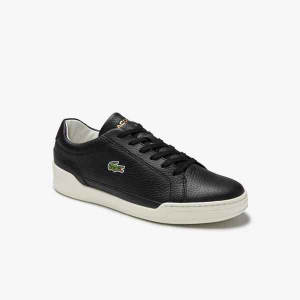 Lacoste Challenge 0120 1 Sma Erkek Deri Siyah - Beyaz Sneaker