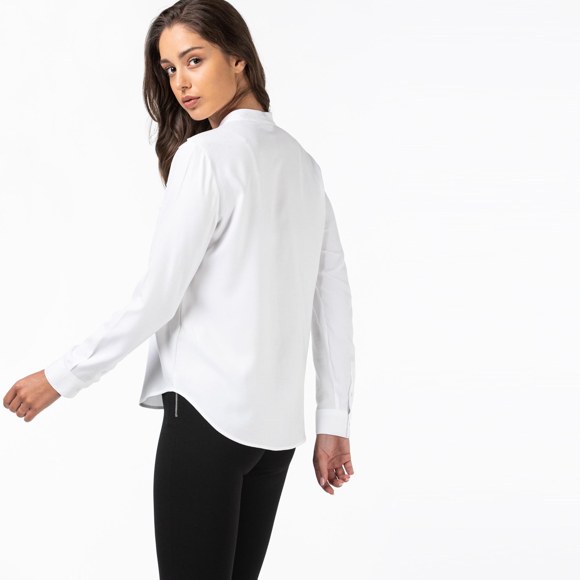 Lacoste Kadın Hakim Yaka Beyaz Gömlek