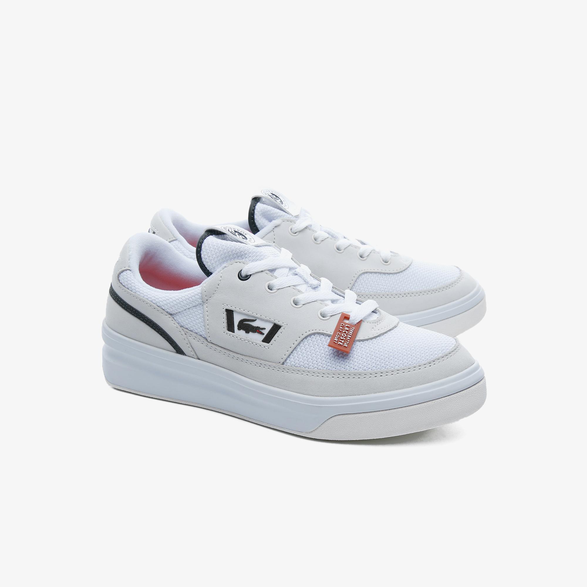 Lacoste G80 Rg 120 1 Sfa Wht/Dk Grn Kadın Beyaz - Koyu Yeşil Deri Sneaker