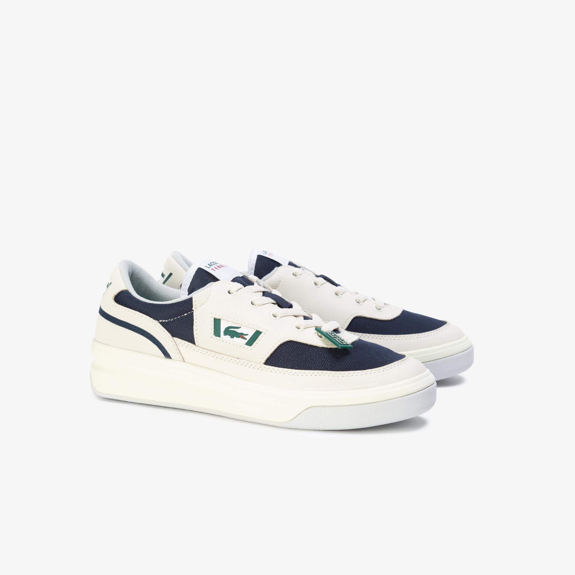 Lacoste G80 Og 120 1 Sma Erkek Beyaz - Koyu Mavi Deri Sneaker