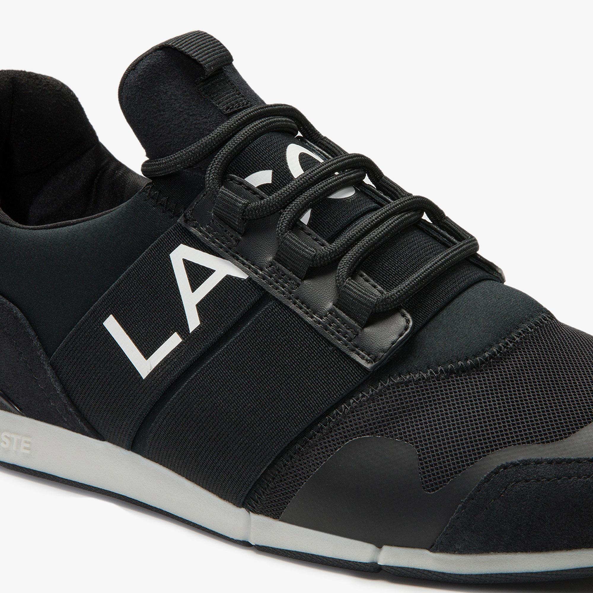 Lacoste Menerva Elite 0120 1 Cma Erkek Siyah - Kırmızı Sneaker