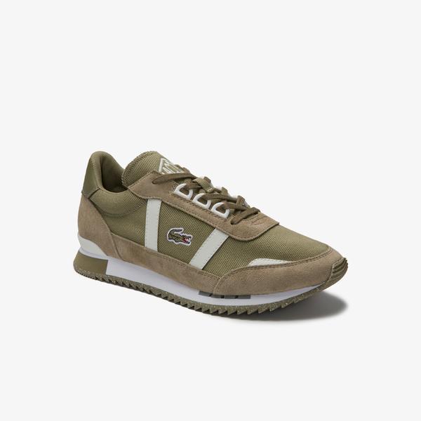 Lacoste Partner Retro 0120 2 Sfa Kadın Haki - Beyaz Sneaker