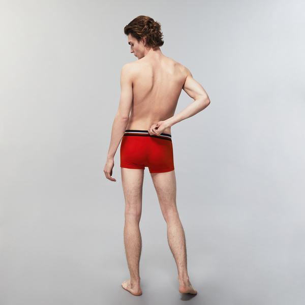 Lacoste Erkek Kırmızı - Lacivert - Gri 3'lü Boxer