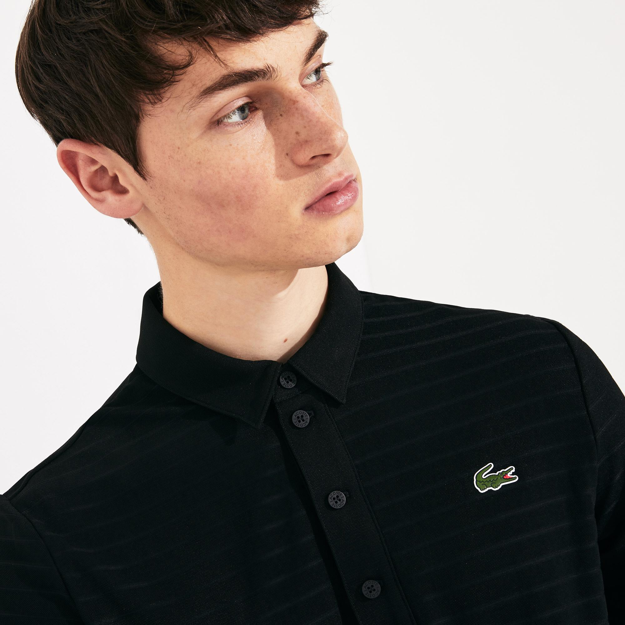 Lacoste Men's Sport Textured Breathable Golf Polo Shirt