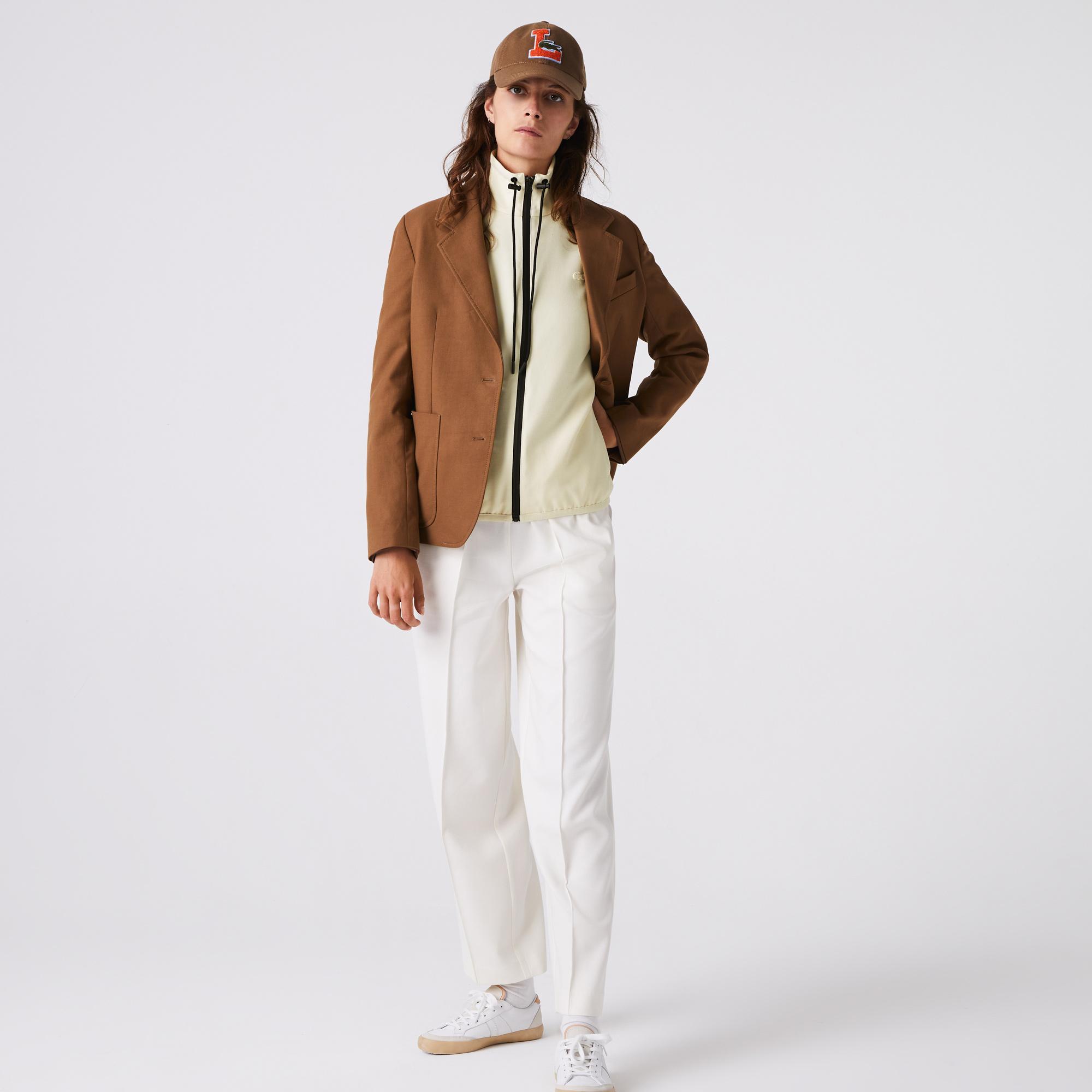 Lacoste Kadın Dik Yaka Beyaz Ceket