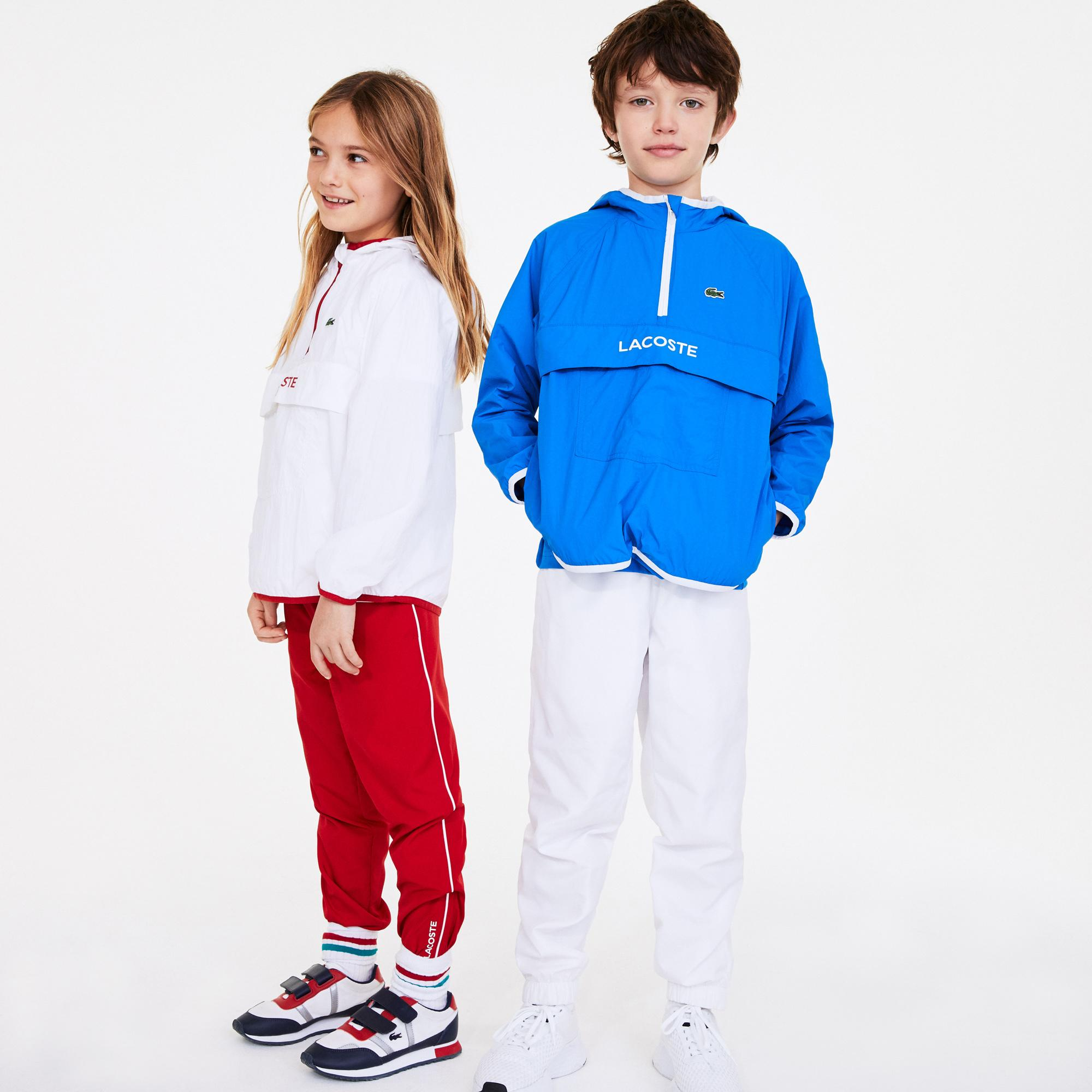 Lacoste Sport Çocuk Kapüşonlu Mavi Mont