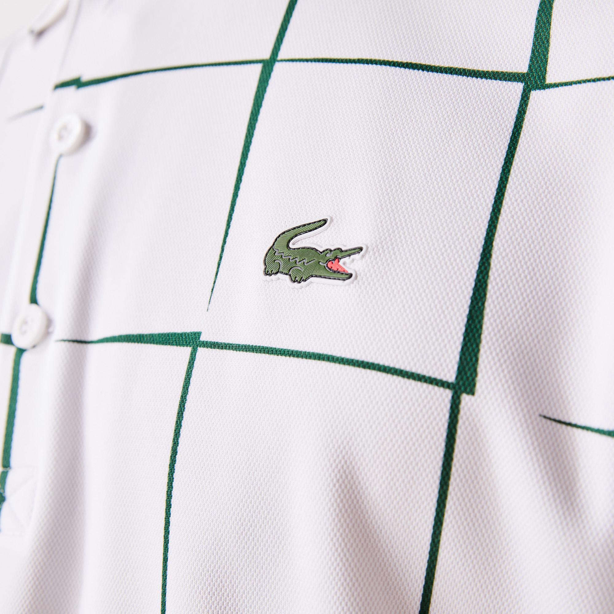Lacoste Sport Erkek Baskılı Yeşil Polo