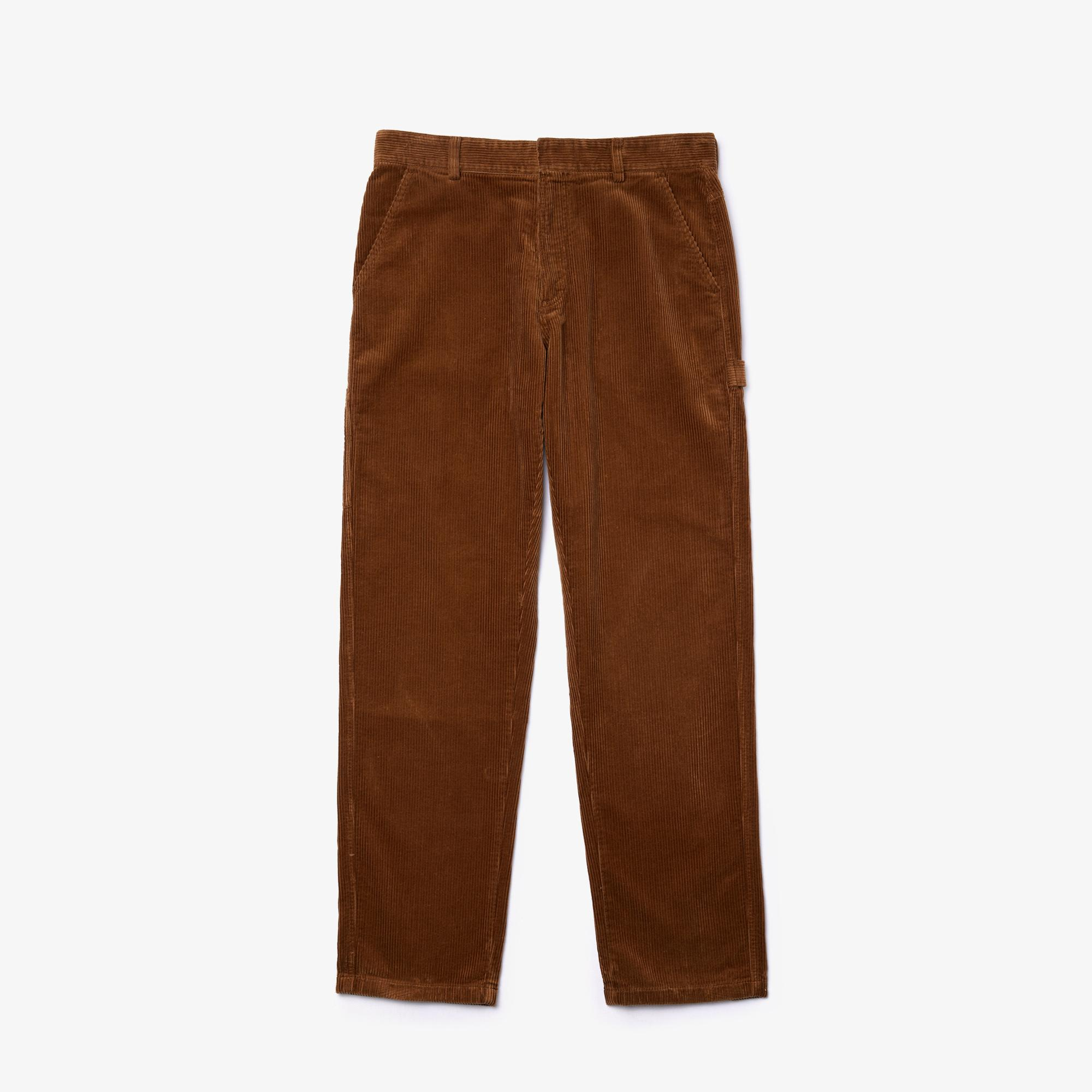 Lacoste L!VE Erkek Kadife Kahverengi Pantolon