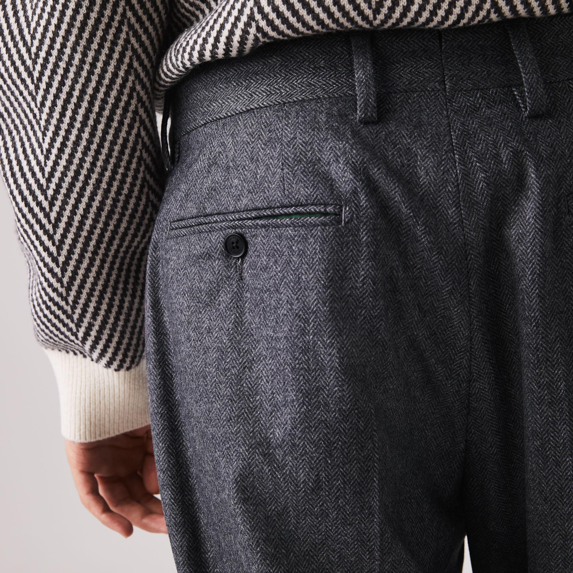 Lacoste Erkek Desenli Gri Pantolon