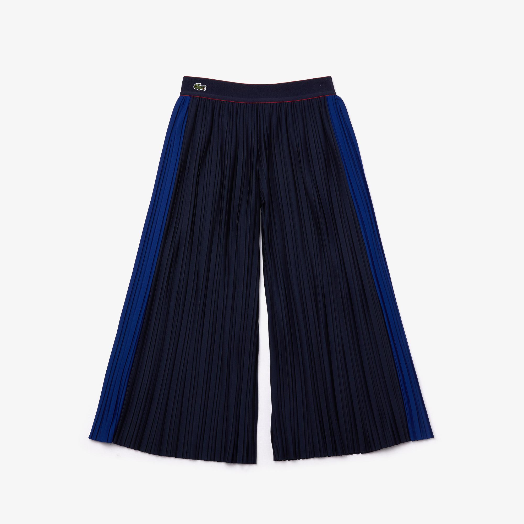 Lacoste Çocuk Çizgili Lacivert Pantolon