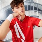Lacoste Sport Erkek Baskılı Kırmızı Polo