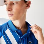 Lacoste Sport Erkek Baskılı Mavi Polo