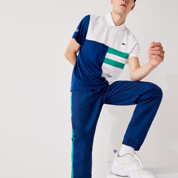 Lacoste Sport Erkek Blok Desenli Renkli Polo