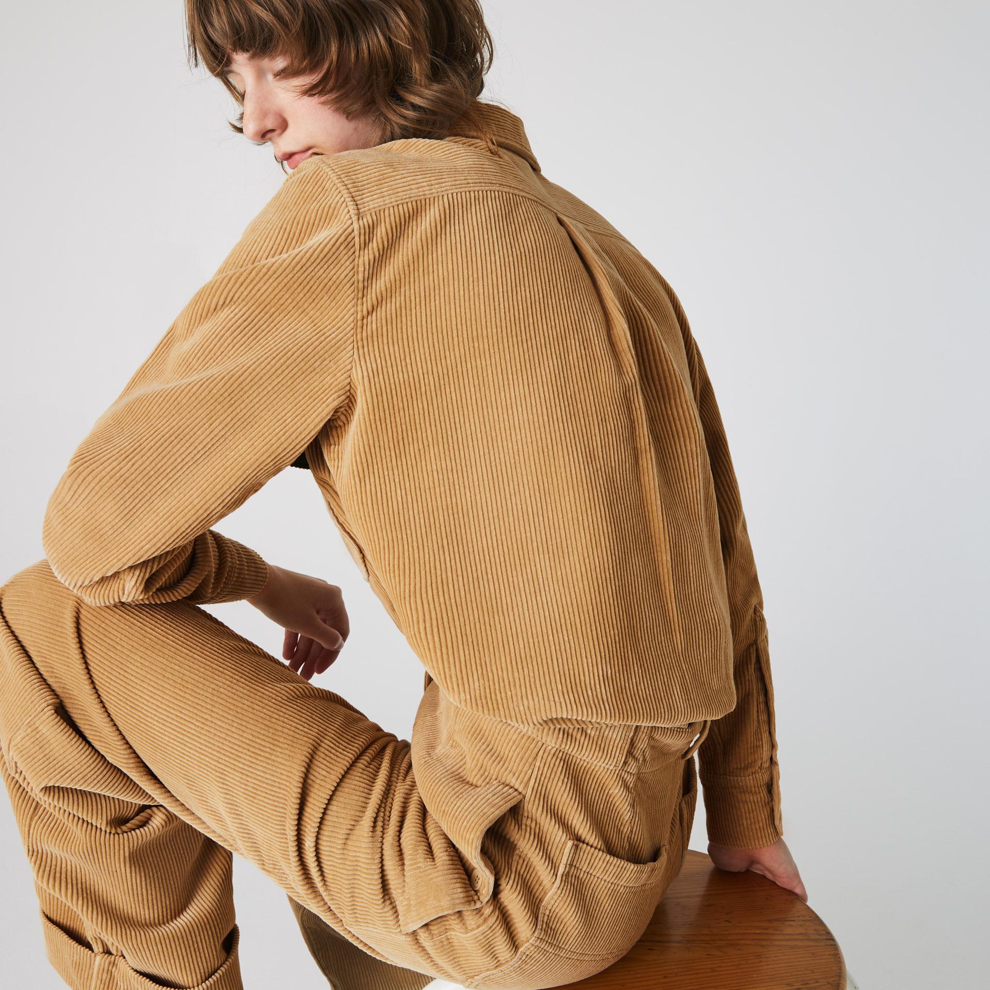 Lacoste L!VE Kadın Kahverengi Gömlek