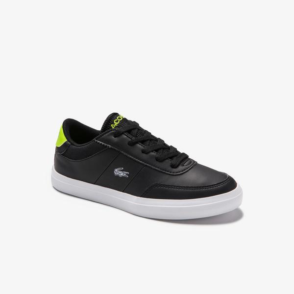 Lacoste Court Master 0120 1 Çocuk Siyah - Yeşil Sneaker