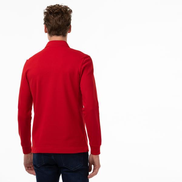 Lacoste Erkek Regular Fit Uzun Kollu Kırmızı Paris Polo