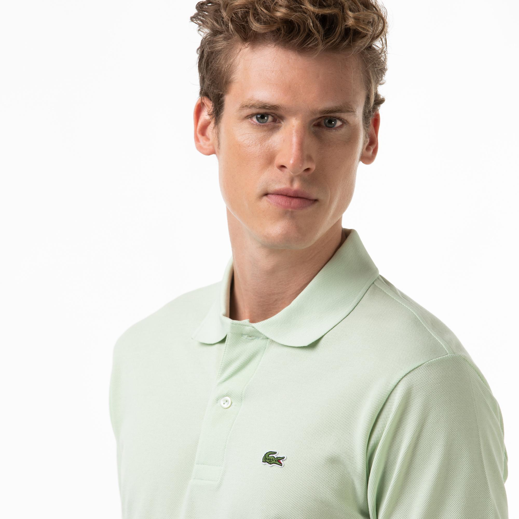 Lacoste Erkek Klasik Fit Açık Yeşil L1212 Polo
