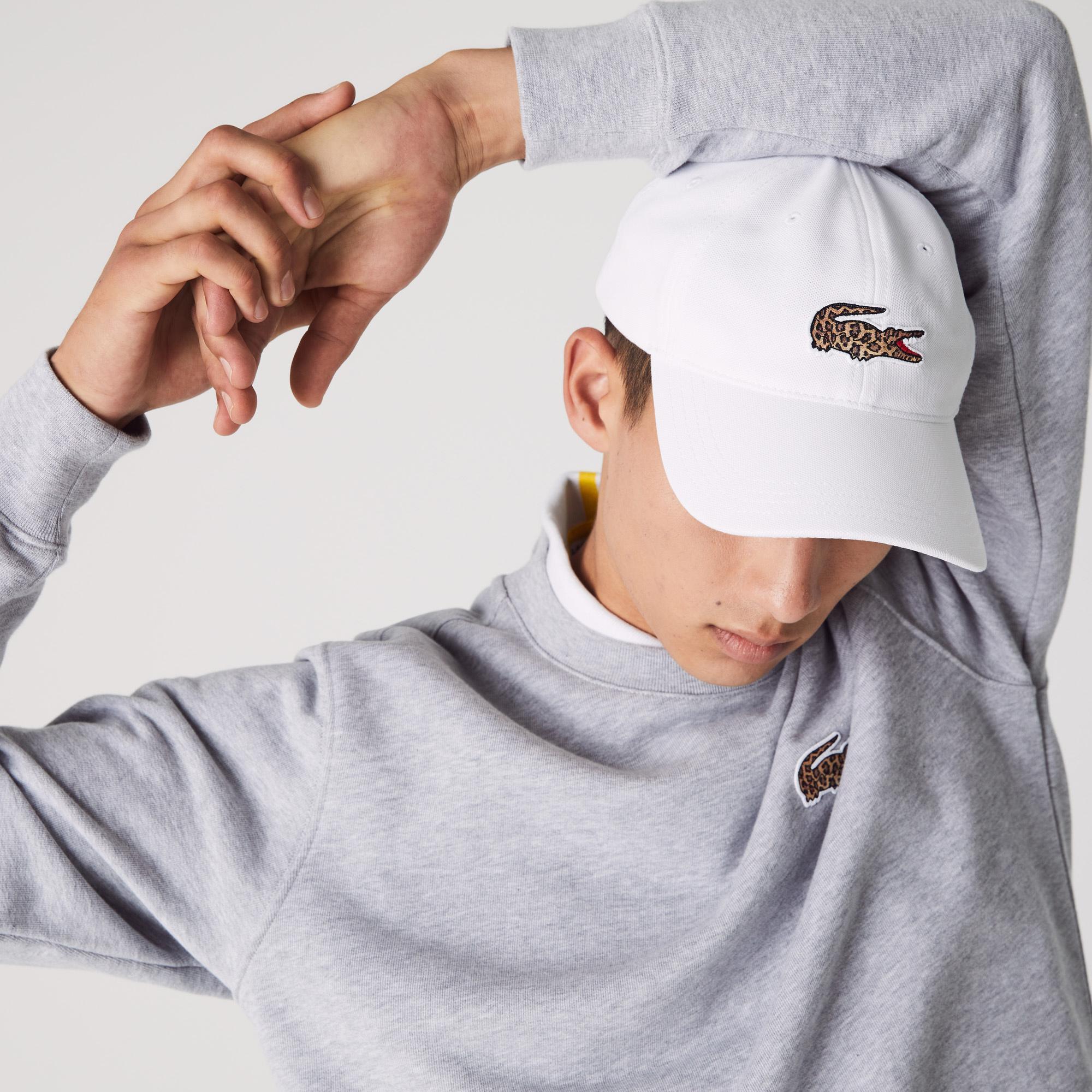 Lacoste x National Geographic Unisex Beyaz Şapka