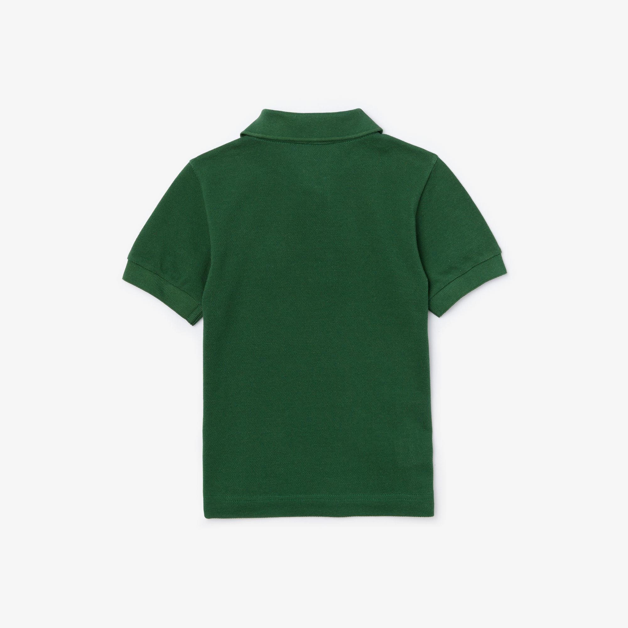 Lacoste Çocuk Desenli Yeşil Polo
