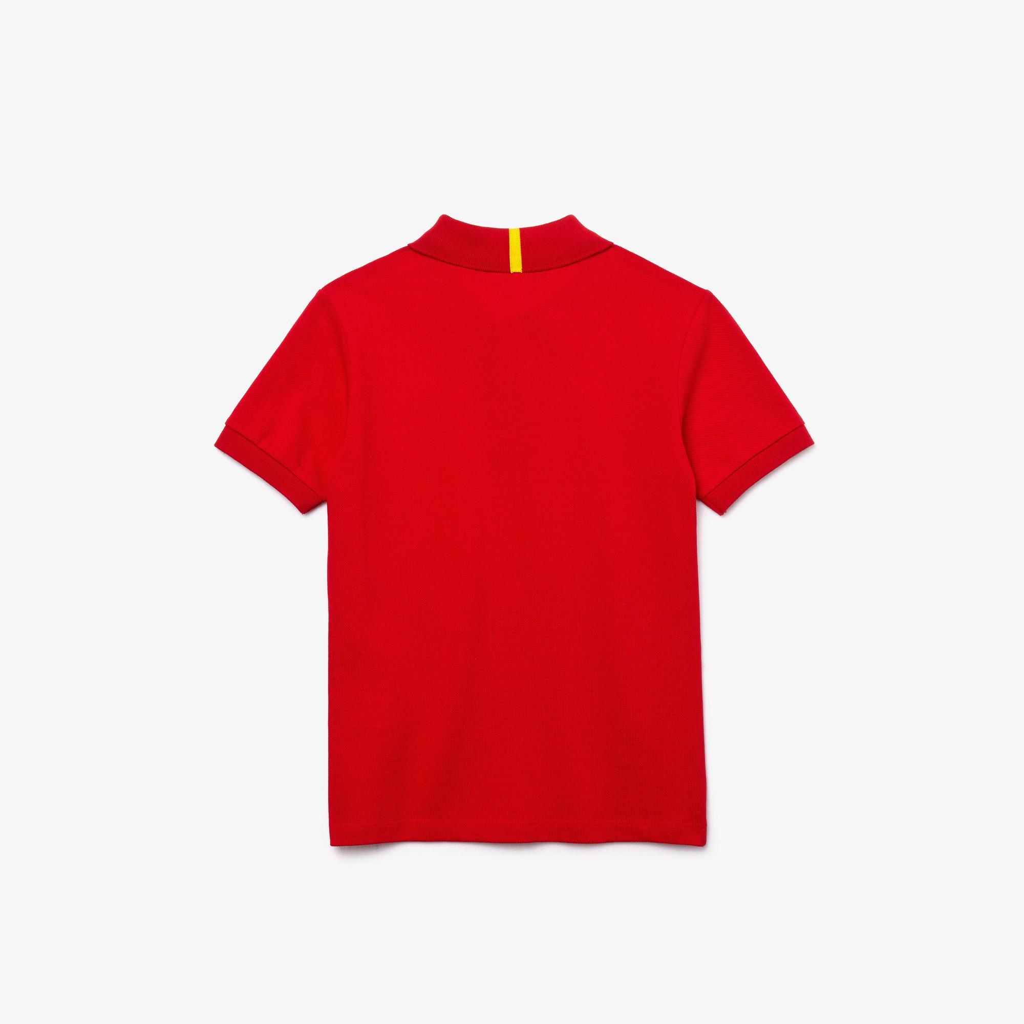 Lacoste x National Geographic Çocuk Kırmızı Polo