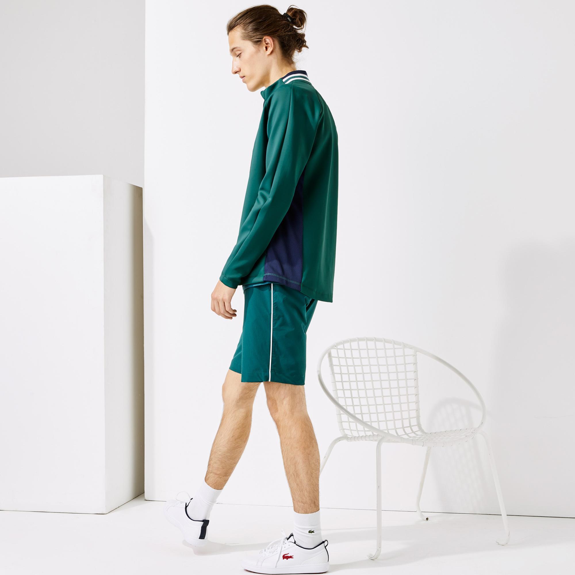 Lacoste Sport Erkek Fermuarlı Yeşil Sweatshirt