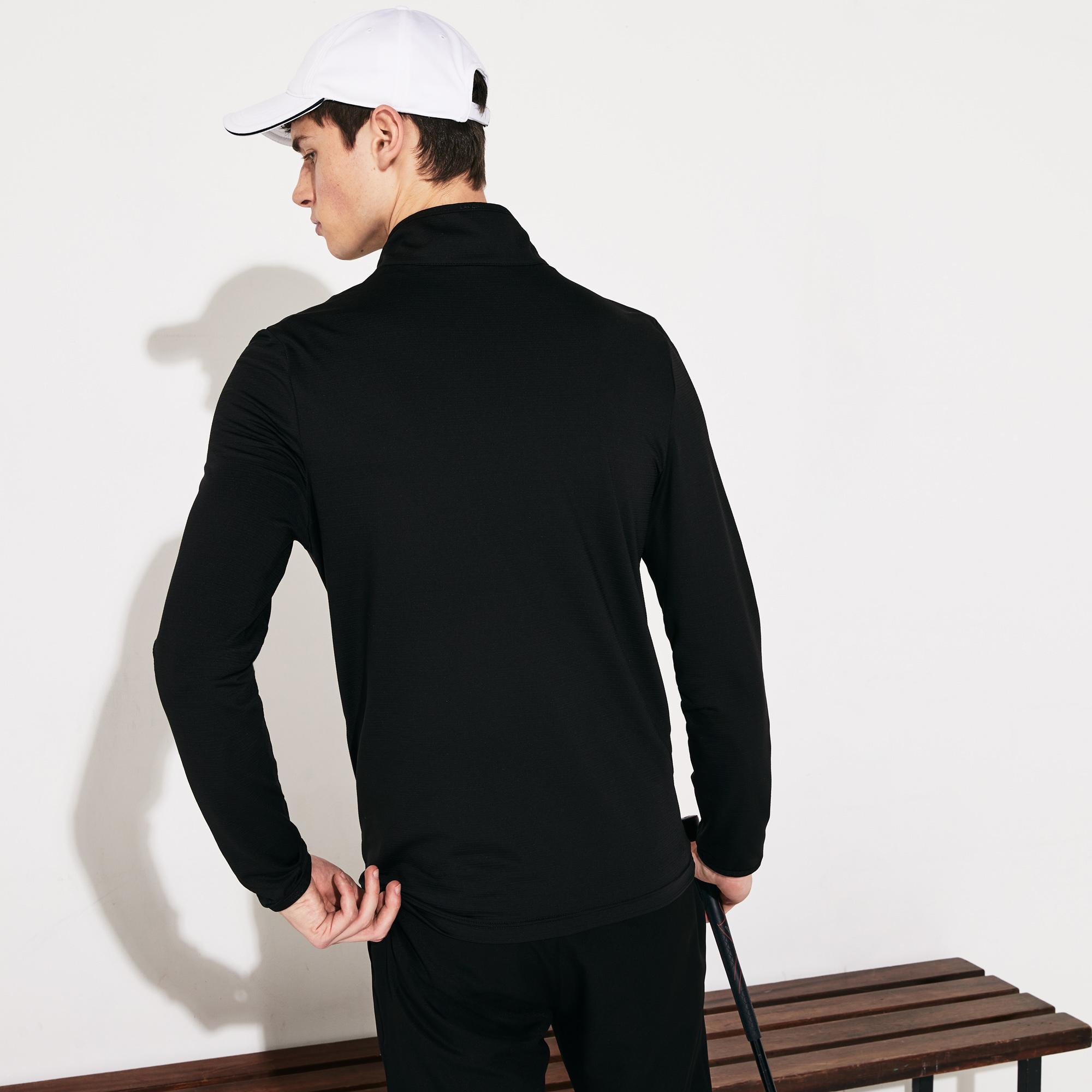 Lacoste Sport Erkek Dik Yaka Siyah Sweatshirt