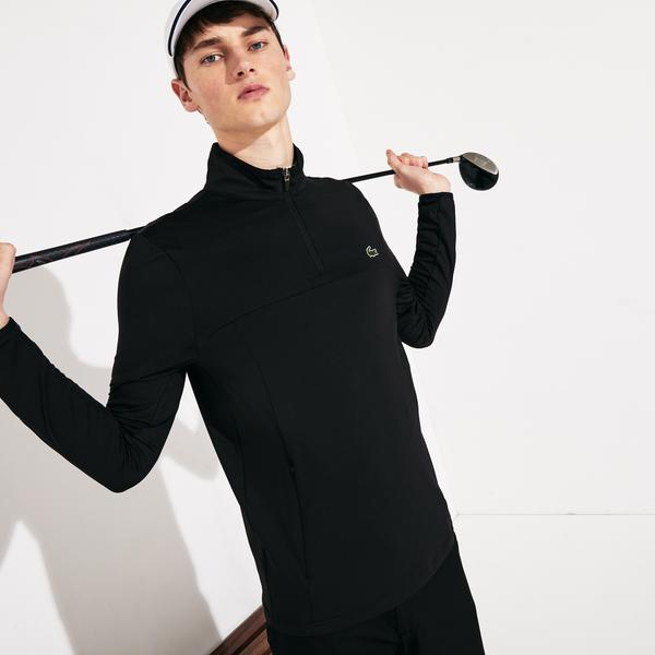 Lacoste Sport Erkek Dik Fermuarlı Yaka Siyah Sweatshirt