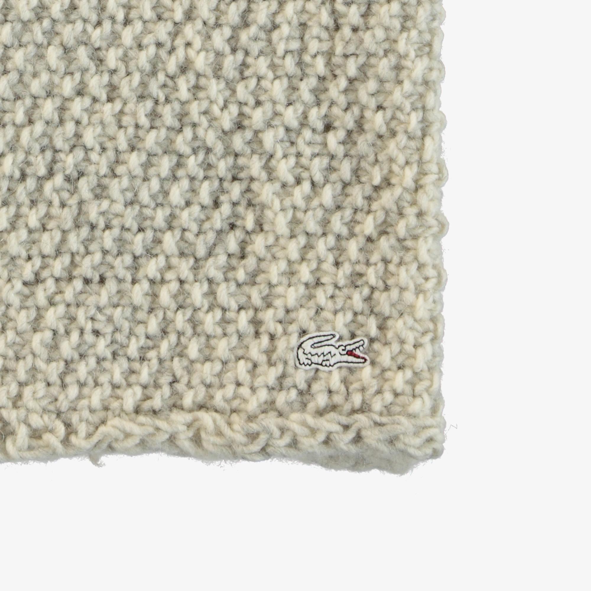 Lacoste Unisex Yün Karışımlı Beyaz Boyunluk