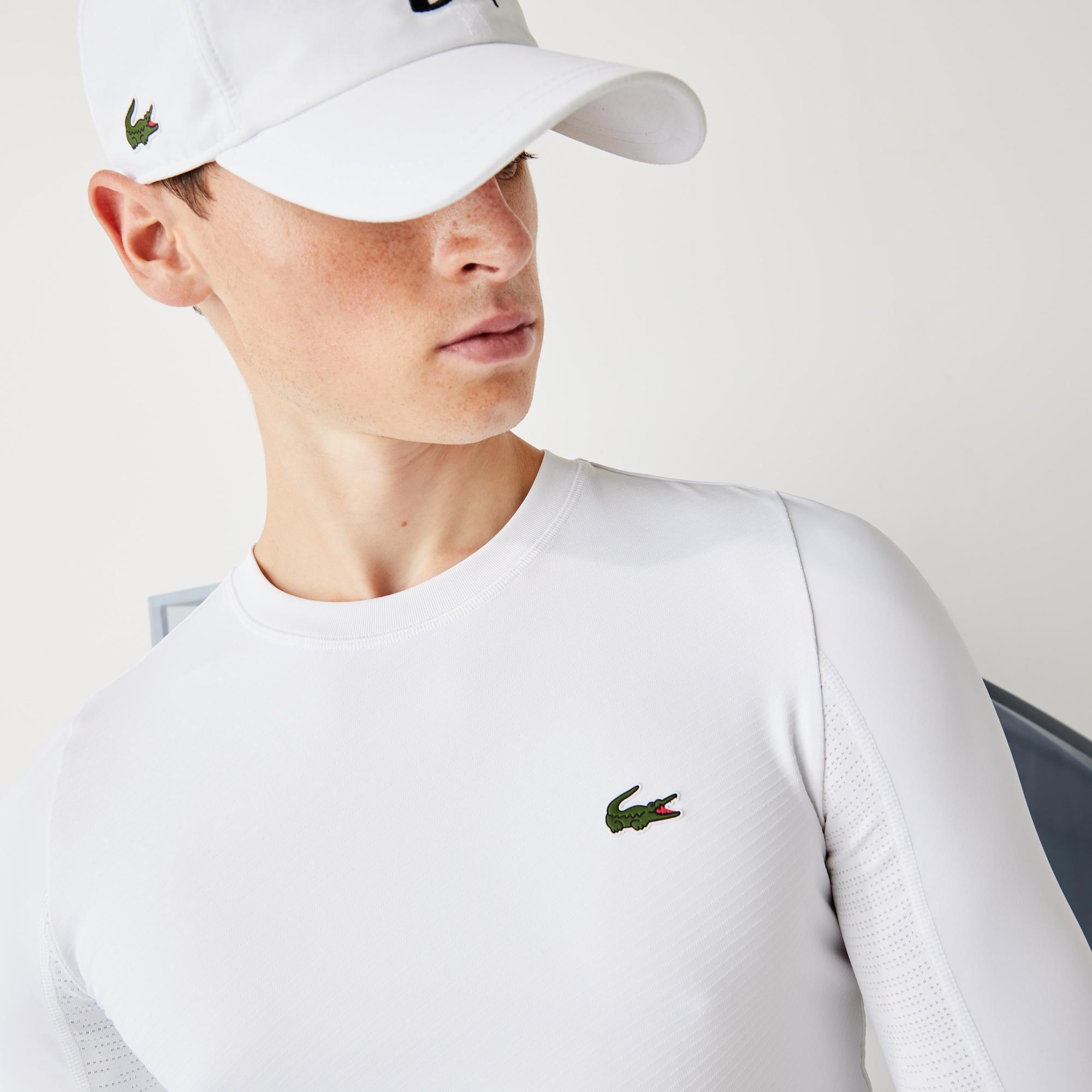 Lacoste Sport Erkek Bisiklet Yaka Kısa Kollu Beyaz T-Shirt