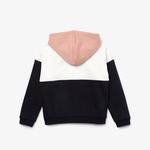 Lacoste Sport Çocuk Blok Desenli Fermuarlı Renkli Sweatshirt
