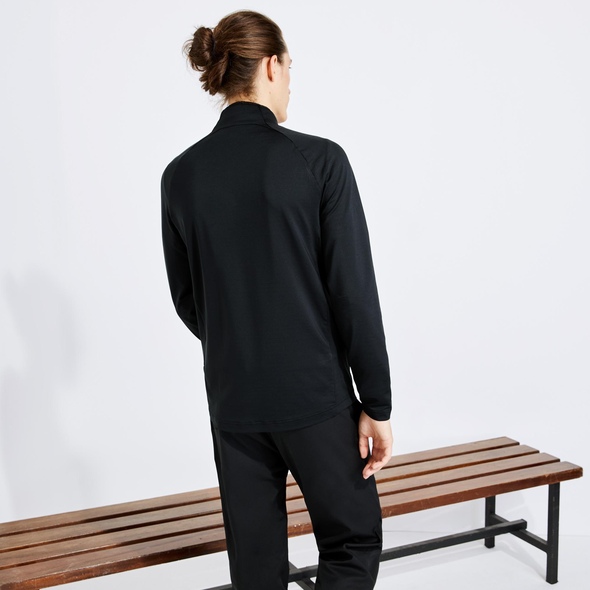 Lacoste Sport Erkek Fermuarlı Siyah Sweatshirt