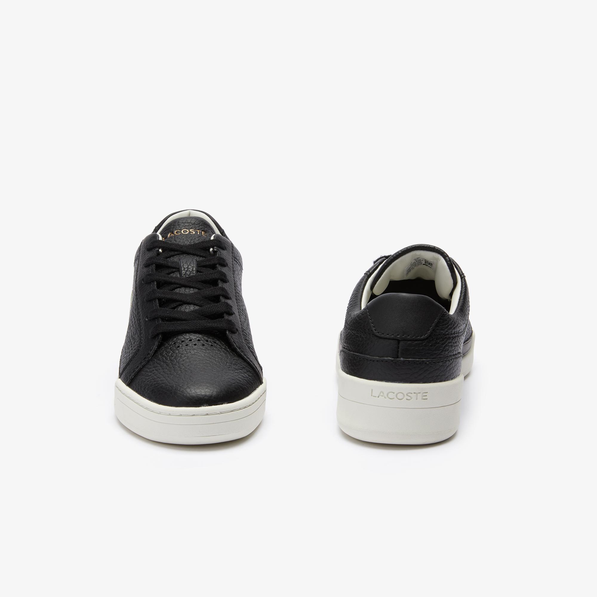 Lacoste Challenge 0120 1 Sfa Kadın Deri Siyah - Beyaz Sneaker