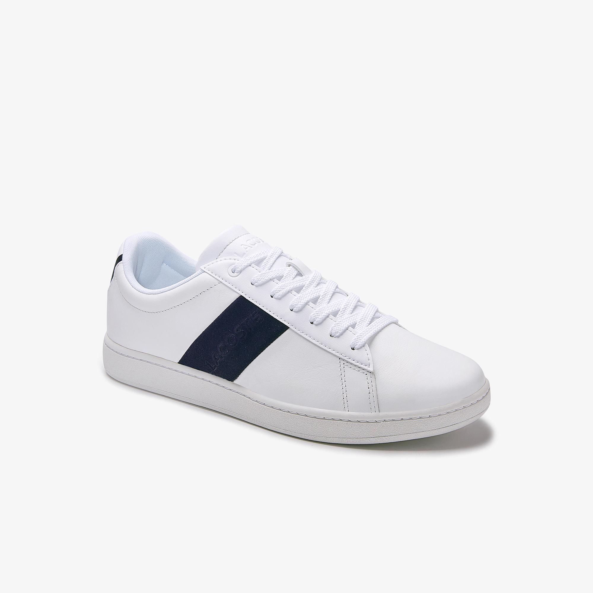 Lacoste Carnaby Evo Erkek Deri Beyaz-Lacivert Sneaker