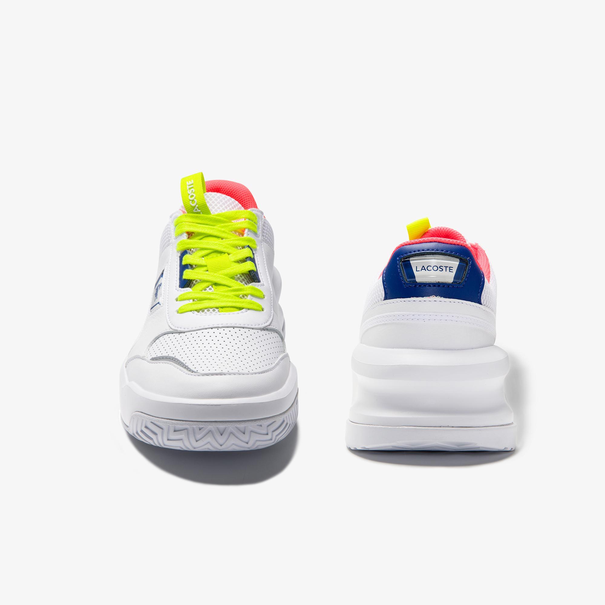 Lacoste Ace Lift 0120 1 Sfa Kadın Deri Beyaz - Koyu Mavi Sneaker