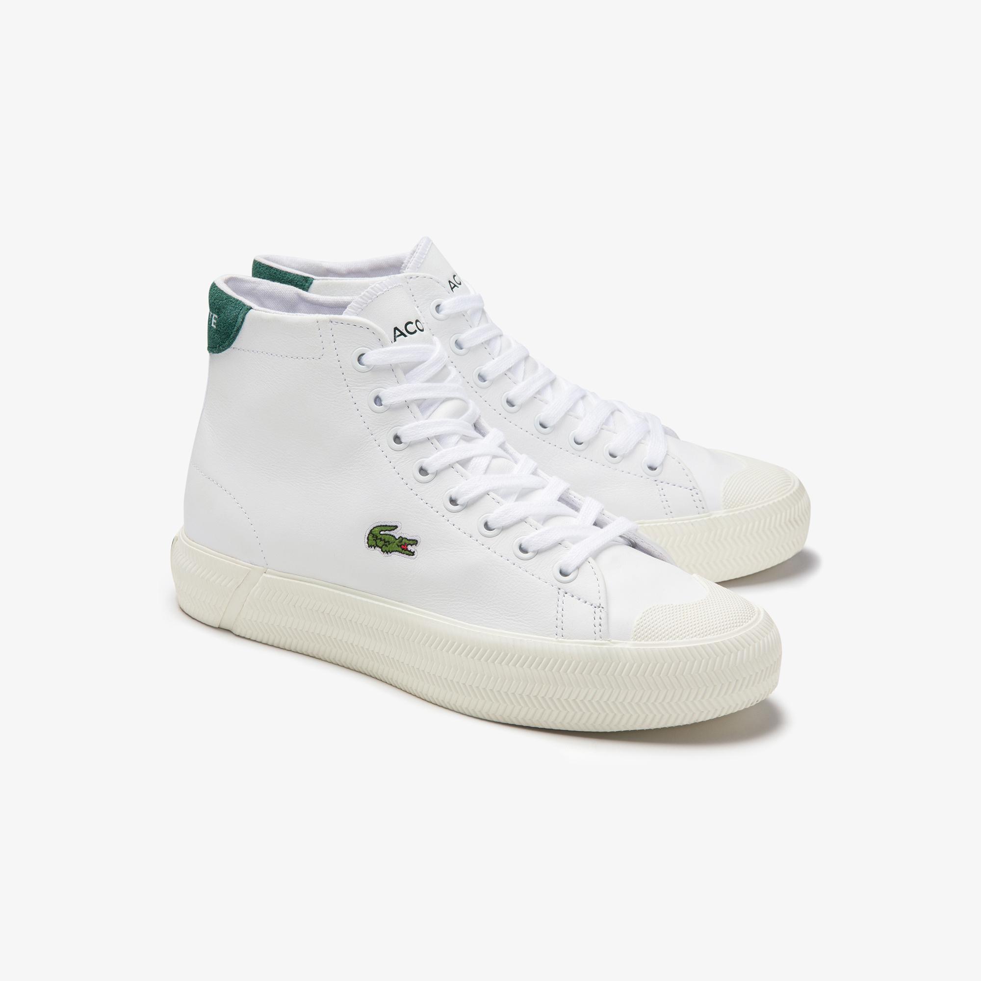 Lacoste Gripshot Mid 0120 1 Cfa Kadın Deri Beyaz - Koyu Yeşil Mid Ayakkabı