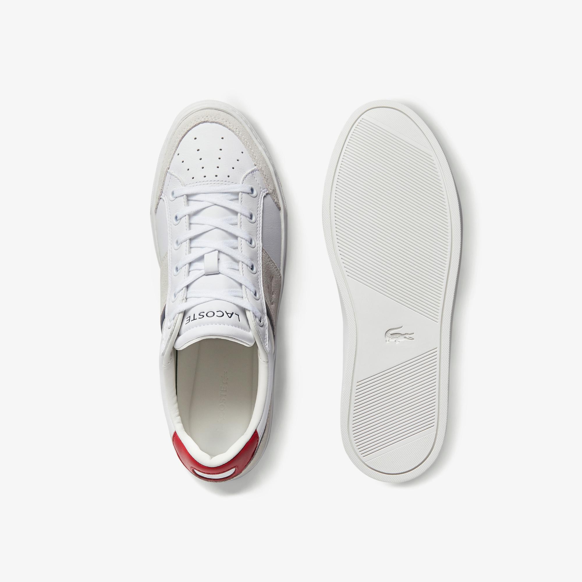 Lacoste Courtline 0120 1 Cma Erkek Deri Beyaz - Bej Sneaker