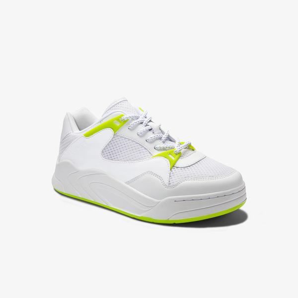 Lacoste Court Slam Dynam 01201Sfa Kadın Beyaz - Açık Yeşil Sneaker