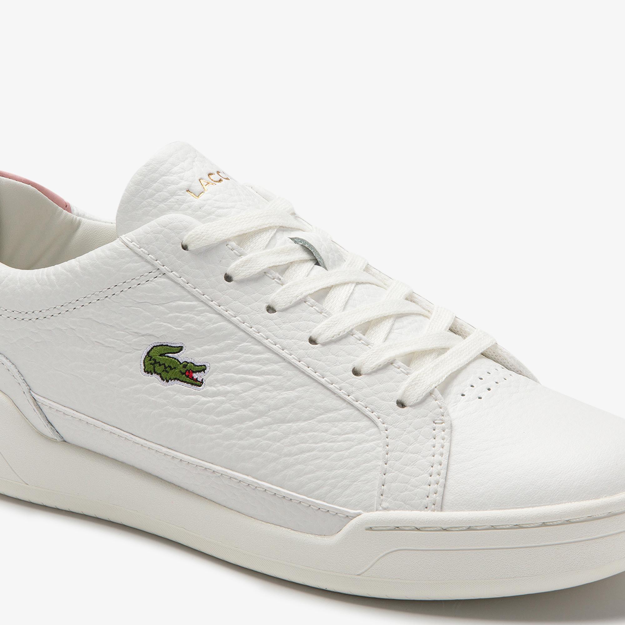 Lacoste Challenge 0120 1 Sfa Kadın Deri Beyaz - Açık Pembe Sneaker