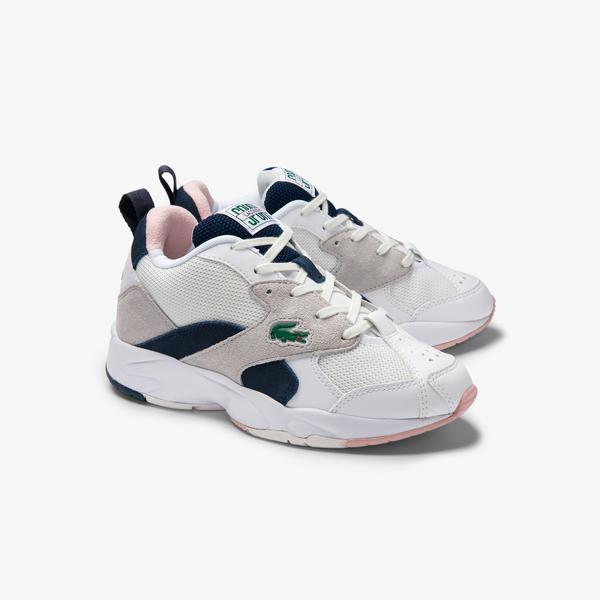 Lacoste Storm 96 0120 1 Sfa Kadın Açık Gri - Açık Pembe Sneaker