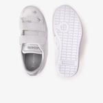 Lacoste Canraby Ev0 419 1 Timsah Baskılı Çocuk Beyaz - Gri Sneaker