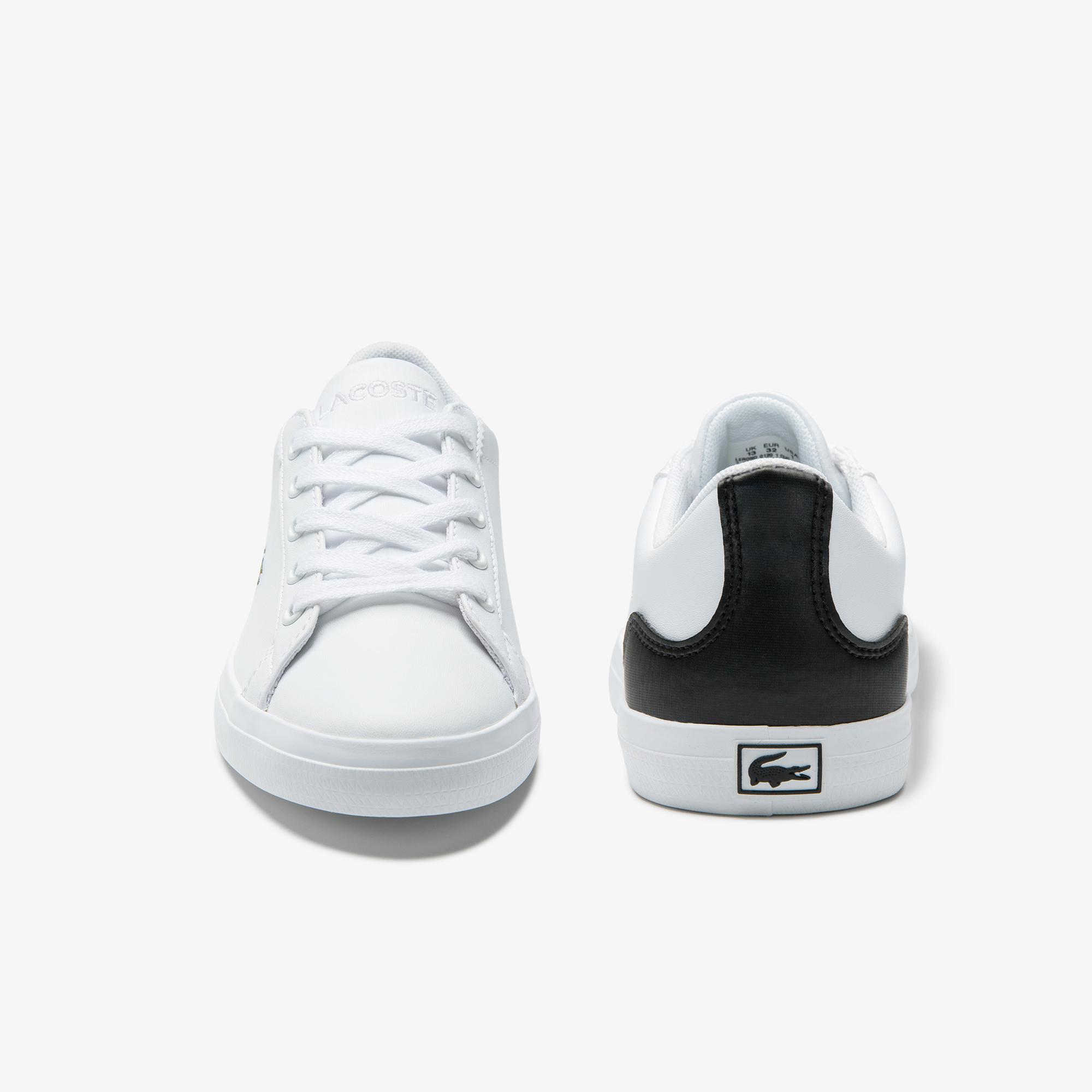 Lacoste Lerond 0120 1 Çocuk Beyaz - Siyah Casual Ayakkabı