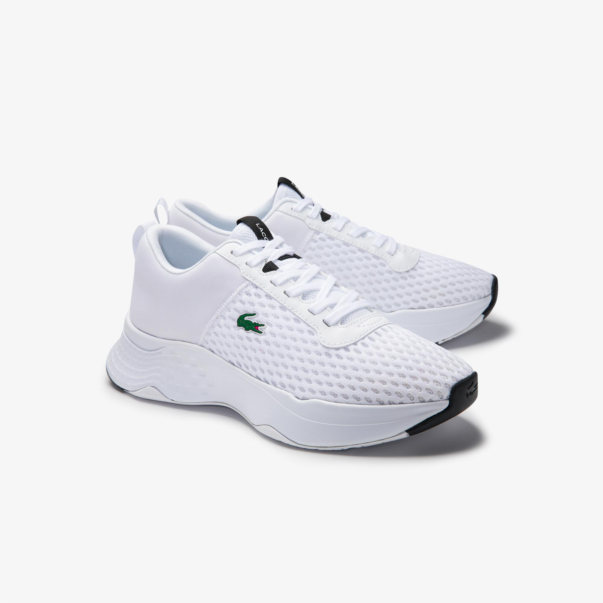 Lacoste Court-Drive 0120 1 Suj Wht/Blk Kadın Beyaz - Siyah Sneaker