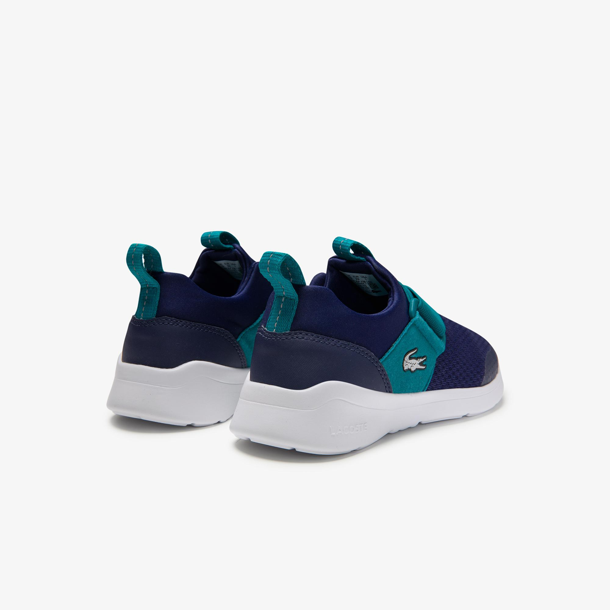 Lacoste Lt Dash Slip 0120 Çocuk Koyu Mavi - Yeşil Sneaker