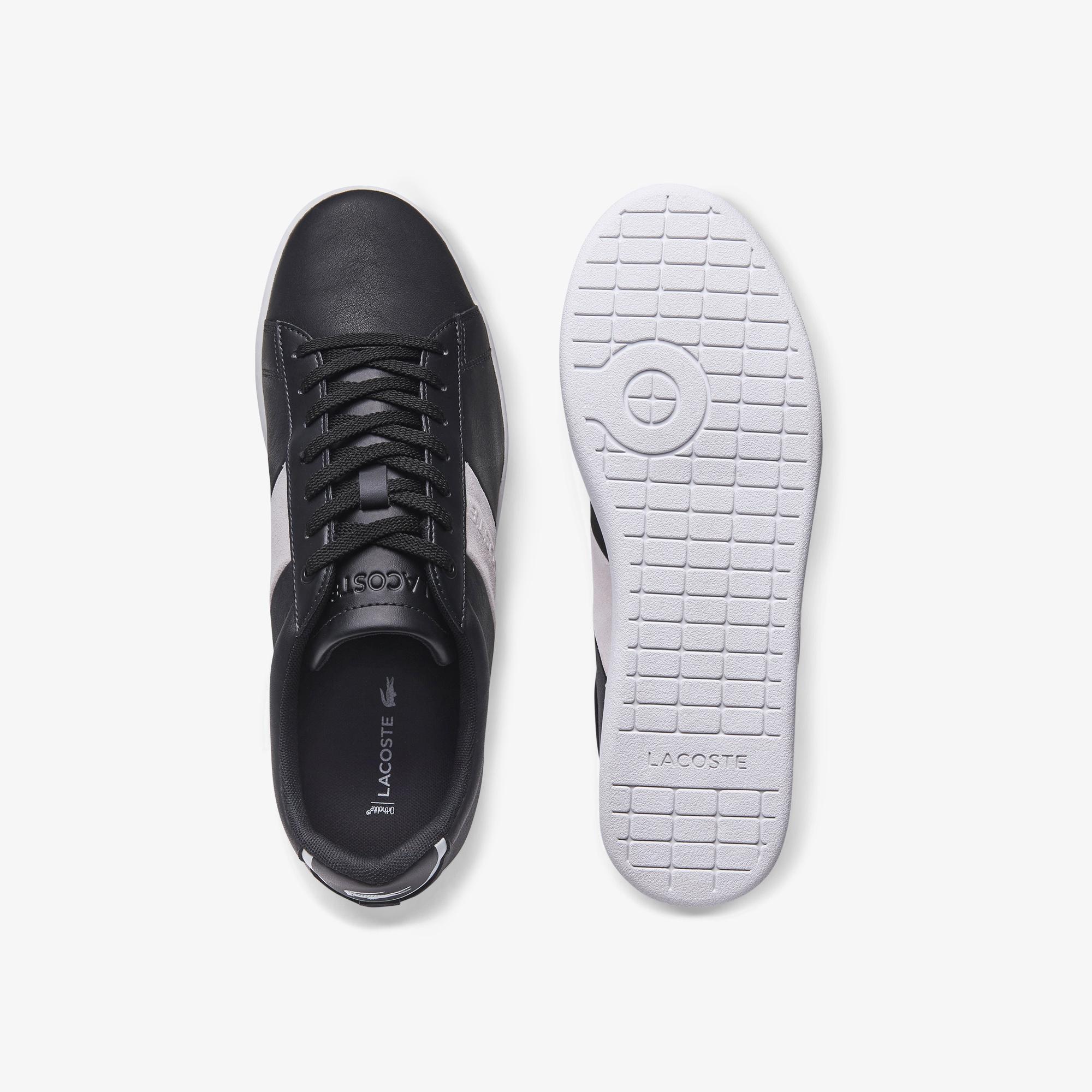 Lacoste Carnaby Evo Erkek Deri Siyah - Beyaz Sneaker