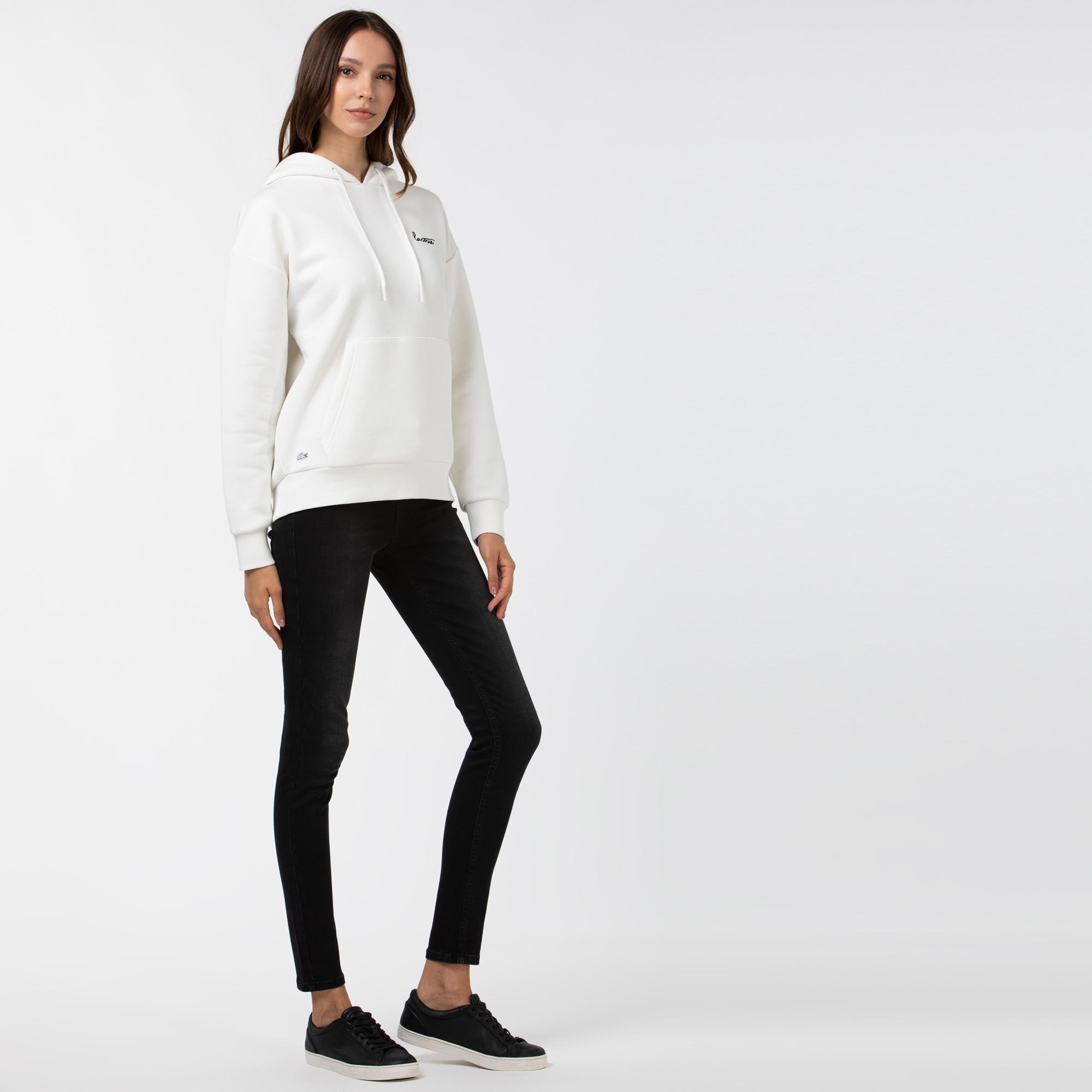 Lacoste Kadın Slim Fit Denim Gri Pantolon