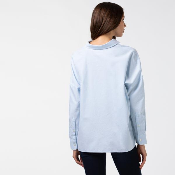 Lacoste L!VE Kadın Mavi Gömlek